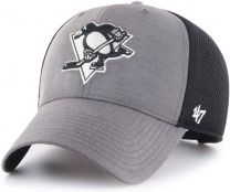 Бейсболка 47BRAND GRIM MVP Pittsburgh Penguins Dark Grey