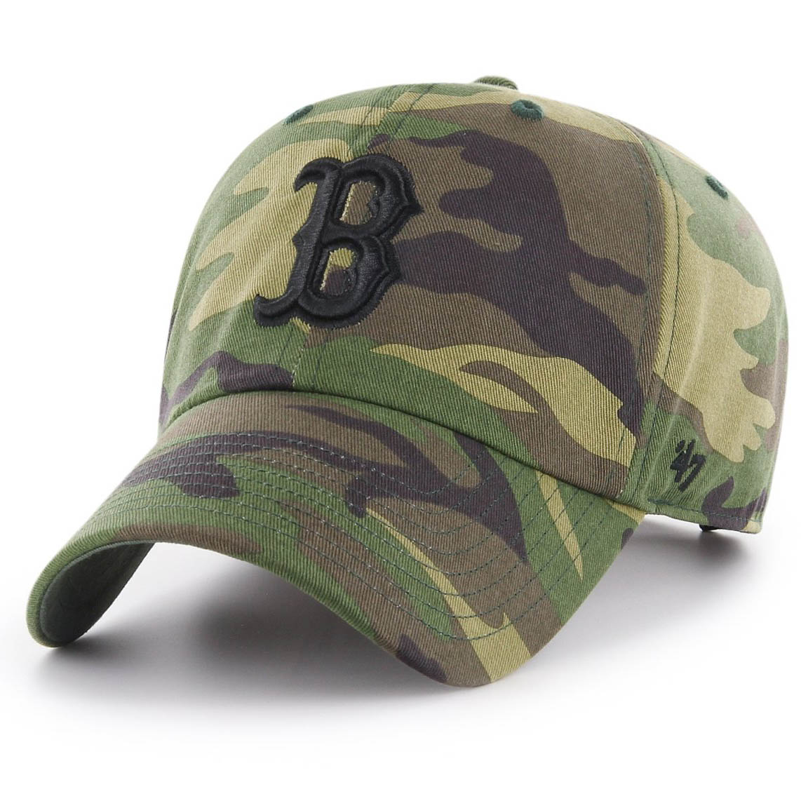 Бейсболка 47 BRAND Boston Red Sox Camo Unwashed Clean Up