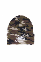 Шапка SIXTH JUNE camouflage logo Beanie green