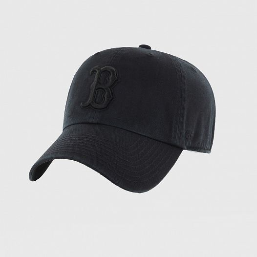Бейсболка 47 BRAND Boston Red Sox Clean Up All Black